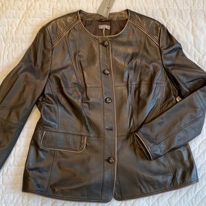 NWT Basler Tourmaline leather jacket (Eu size 44)